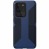 Samsung Galaxy S20 Ultra Speck Presidio Grip Series Case w/ Microban - Blue/Black