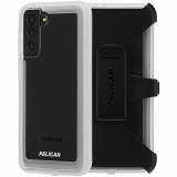 Samsung Galaxy S21 5G Pelican Voyager Series Case with Micropel - Clear with Holster