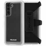 Samsung Galaxy S21+ 5G Pelican Voyager Series Case with Micropel - Clear with Holster