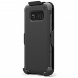 Samsung Galaxy S8 PureGear DualTek with Hip Clip Holster - Black/Black