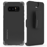 Samsung Galaxy Note 8 PureGear DualTek Case with Hip Clip Holster - Black