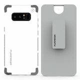 Samsung Galaxy Note 8 PureGear DualTek Case with Hip Clip Holster - White/Grey