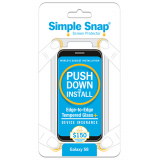 Samsung Galaxy S8 Simple Snap Edge-to-Edge + Device Protection Screen Protector - Black