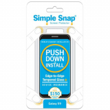 Samsung Galaxy S9 Simple Snap Edge-to-Edge + Device Protection Screen Protector - Black