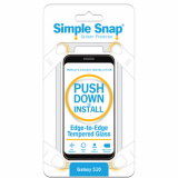 Samsung Galaxy S10 Simple Snap Edge-to-Edge Screen Protector - Black Tempered Glass
