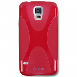 Samsung Galaxy S5 TekYa Flex Style TPU Shield - Red