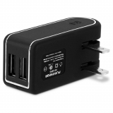 PureGear Dual USB 4.8 Amp AC Travel Charger Head - Black