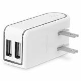PureGear Dual USB 4.8 Amp AC Travel Charger Head - White