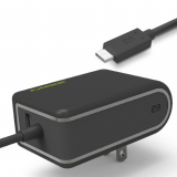 PureGear 4.8 Amp USB-C Corded AC Travel Charger - Black