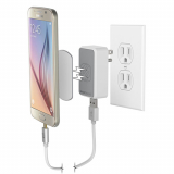 Scosche MagicMount Magnetic 2.4 Amp Single USB AC Travel Charger Head - White