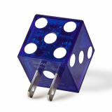 BuQu PLAYA 2.4 Amp Single USB AC Travel Charger Head - Blue Dice