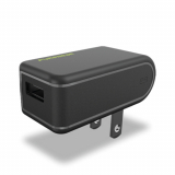 PureGear 2.4 Amp Single USB Travel Charger Head - Black