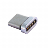 TekYa T-Snap USB-C Detachable Magnetic Tip Adapter - Silver *BULK*