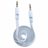 Fuse 3.5mm to 3.5mm Auxiliary Audio Flat 3ft Cable - White