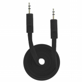 Fuse 3.5mm to 3.5mm Auxiliary Audio Flat 3ft Cable - Black