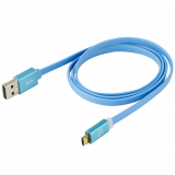 Scosche flatOUT LED EZTip Reversible Mirco USB 36 inch Data/Sync/Charge Cable - Blue