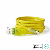 BuQu CORDZ 10Ft Micro USB Cable - Yellow