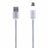 TekYa T-Snap 36in Micro USB Detachable Magnetic Tip with Cable - Silver