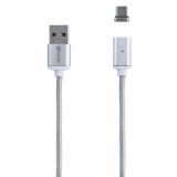 TekYa T-Snap 36in USB to USB-C Detachable Magnetic Tip with Cable - Silver