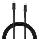 **NEW**TekYa 72 Inch (6ft) USB-C to USB-C 3.0 Braided Cable - Black