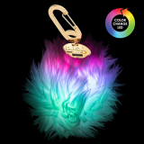 BuQu POWER POOF 2500mAh Portable Power Bank - Color Changing LED Fur Pom-Pom