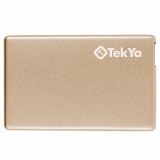 TekYa 2300mAh Power Pocket Portable Battery Pack - Gold