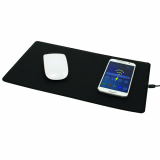 Universal M-Edge Wireless Qi Charging Mouse Pad - Black