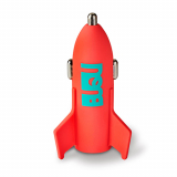 BuQu ASTRO 2.4 Amp Single USB Car Charger Head - Salmon Rocket