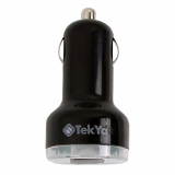 TekYa 2 Amp Dual USB Car Charger Head - Small Packaging