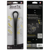 "Nite Ize Gear Tie 18"" 2 Pack - Black"