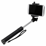 TekYa Selfie Stick with Bluetooth - Black/Black