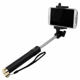 TekYa Selfie Stick with Bluetooth - Black with Gold Trim