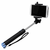 TekYa Selfie Stick with Bluetooth - Black with Blue Trim