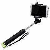TekYa Selfie Stick with Bluetooth - Black with Green Trim