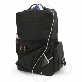 Universal M-Edge BOLT Backpack with 4000mAh Portable Battery - Black