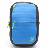 Universal M-Edge Tech Backpack with 4000mAh Portable Battery - Blue with Gray