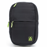 Universal M-Edge Tech Backpack with 4000mAh Portable Battery - Black with Lime