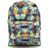 Universal M-Edge Graffiti Backpack with 4000mAh Portable Battery - Multi Triangle