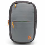 Universal M-Edge Tech Backpack with 4000mAh Portable Battery - Grey with Orange