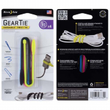 Nite Ize 6 Inch Gear Tie Cordable 4 Pack in Assorted Colors - Black, Blue, Pink, Yellow