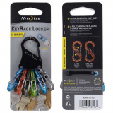 Nite Ize KeyRack Locker S-Biner with Colorful MicroLocks