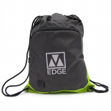 Universal M-Edge Tech Sackpack with 4000mAh Portable Battery - Grey/Lime