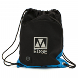 Universal M-Edge Tech Sackpack with 4000mAh Portable Battery - Black/Blue