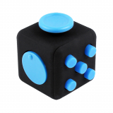 Universal Fidget Cube Black with Blue Buttons
