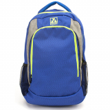 Universal M-Edge RELAY Backpack with 6000mAh Portable Battery - Blue/Lime