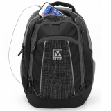 Universal M-Edge Commuter Backpack with 6000mAh Portable Battery - Black