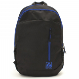 Universal M-Edge Flex Backpack with 6000mAh Portable Battery - Black/Blue