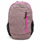 Universal M-Edge Flex Backpack with 6000mAh Portable Battery - Pink