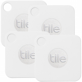 Universal Tile Mate Bluetooth Item Finder/Tracker (4 Pack) - White