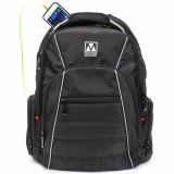 Universal M-Edge Cargo Backpack with 6,000mAh Portable Battery - Black